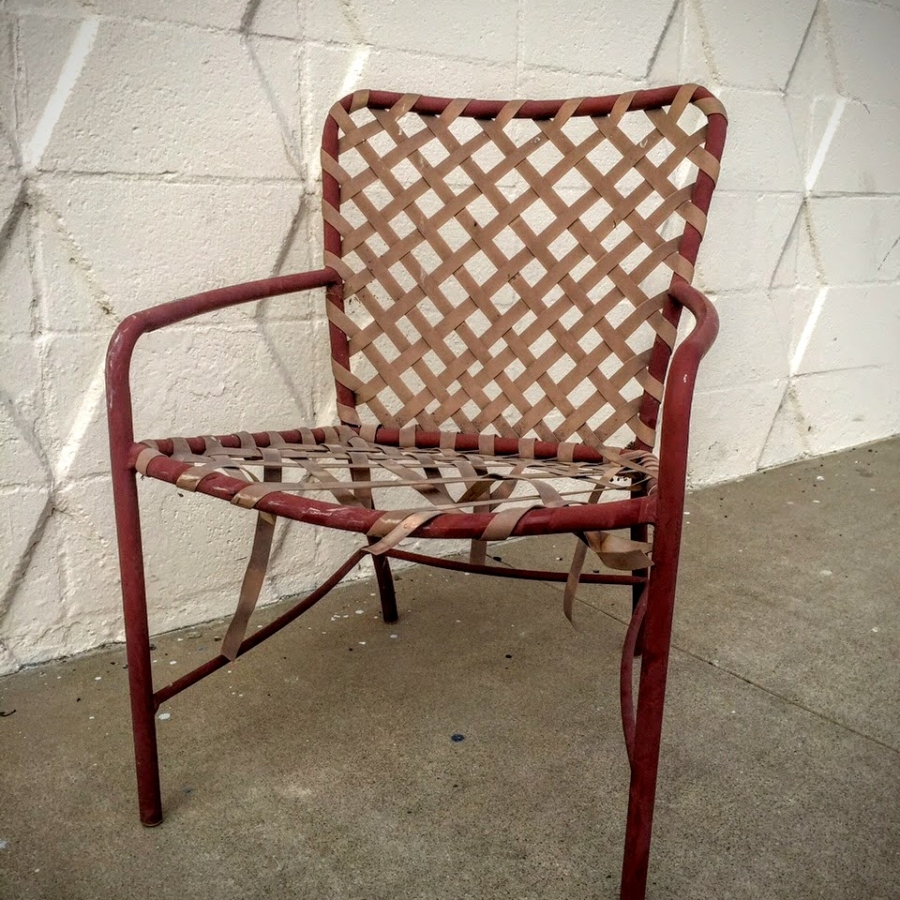 Patio Chair- vinyl strapping